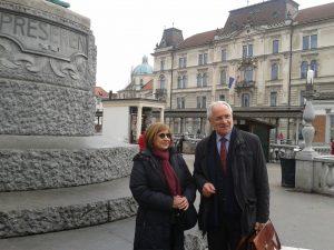 Sprehod po Ljubljani po delovnem srečanju z neodvisno strokovnjakinjo ZN Kornfeld Matte, 17. 11. 2014